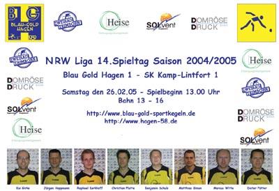 Bild zum Artikel: Blau Gold Hagen - SK Kamp Lintfort