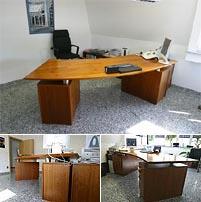 Design Möbel - geschwungener Schreibtisch, Einzelstück aus individueller Fertigung