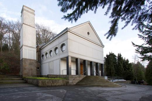 Bild zum Artikel: Führung durch die Andachtshalle des Krematoriums
