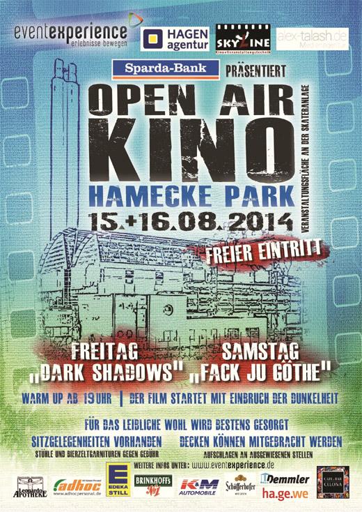 Open Air Kino im Hameckepark in Hagen