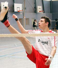 Bild zum Artikel: Sensation bei der Federfußball-WM in China: David Zentarra holt im Einzel die Bronzemedaille