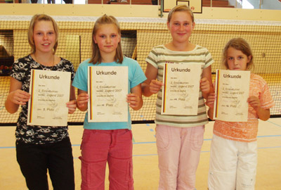 Sandra Schön, Linda Sommer, Lea Karsten und Mona-Sophie Kotkowski