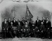 Die Gründer des MGV Heiderose Boelerheide im Jahre 1900
