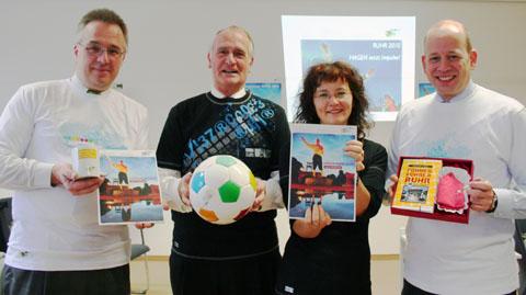 Dr. Hans-Dieter Fischer, Dr. Herbert Bleicher, Peter Mook und Rita Viehoff