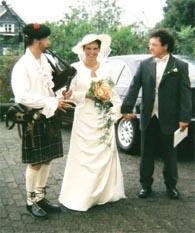 Dudelsackspieler bei einer Hochzeit