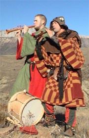 Mittelalterliche Flötenspieler