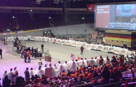 Aktion des DGB Hagen in Dortmund