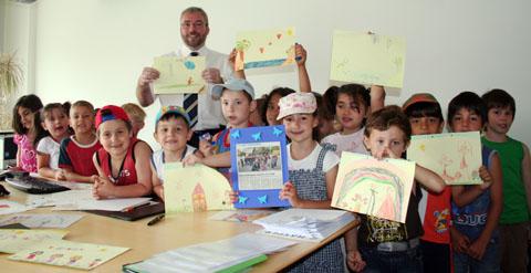 Bild zum Artikel: Kinderhaus Stephanstraße sagt Danke - OB Jörg Dehm empfängt Hagener Kindergartenkinder