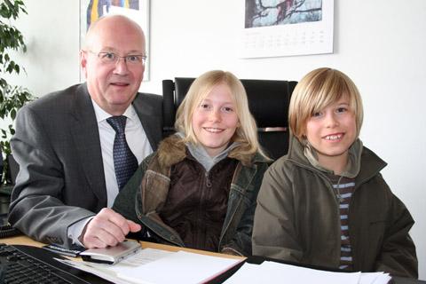 Bild zum Artikel: Hagens Kinder im Gespräch mit dem OB