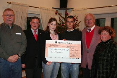 Bild zum Artikel: 500 Euro für die Jugendarbeit des Vorhaller TuS