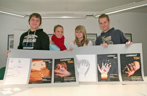 Bild zum Artikel: Cuno-Schüler entwerfen Plakate für Täter-Opfer-Ausgleich in Jugendstrafsachen
