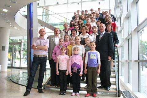 Bild zum Artikel: Bürgermeister Dr. Fischer empfing Sportler aus Smolensk