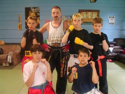 Bild: Kickbox Demonstration im Hasper Kinder und Jugendpark