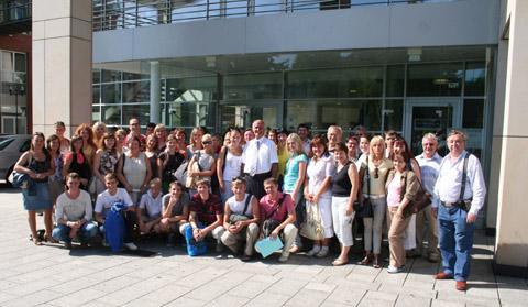 Bild zum Artikel: Bürgermeister Dr. Hans-Dieter Fischer empfängt Besuchergruppen aus Smolensk