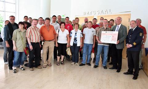 Bild zum Artikel: Bürgermeister Dr. Fischer empfängt Feuerwehrleute aus Bruck an der Mur