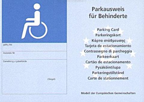 Bild zum Artikel: Alte Schwerbehindertenparkausweise verlieren Gültigkeit
