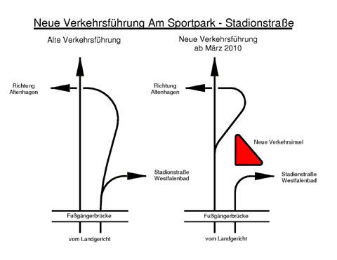 "Bild zum Artikel: Veränderte Verkehrsführung ""Am Sportpark"""