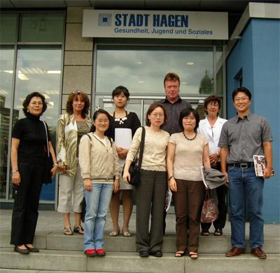 Eine Delegation aus Korea besuchte das Soziale Rathaus in Hagen