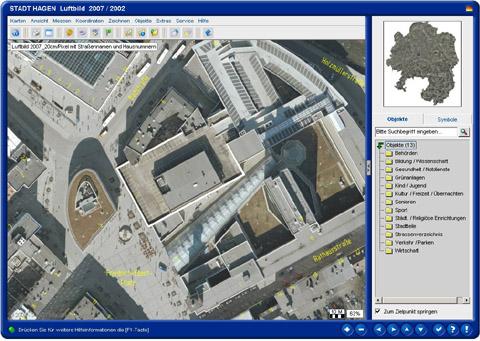 Bild zum Artikel: Luftbilder mit Straßennamen und Hausnummern im Internet