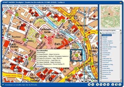 Bild zum Artikel: Der Stadtplan weiß, wann der Bus fährt