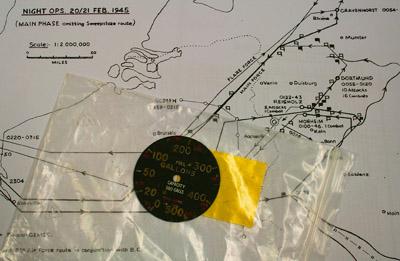 Ein Angriffsplan für einen Luftangriff der Royal Air Force auf Dortmund