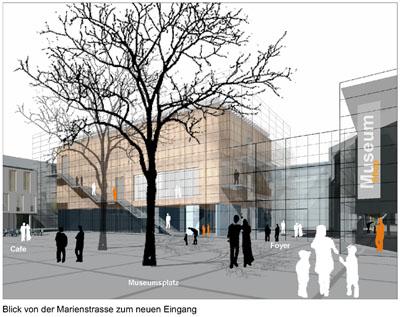 Ansicht auf den Haupteingang des Emil Schumacher Museums
