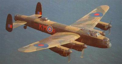 Ein Lancaster Bomber der Royal Air Force