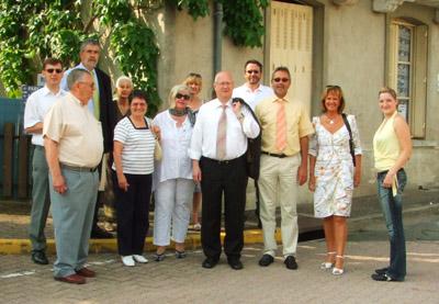 Die Teilnehmer der Reisegruppe aus Hagen in Montlucon
