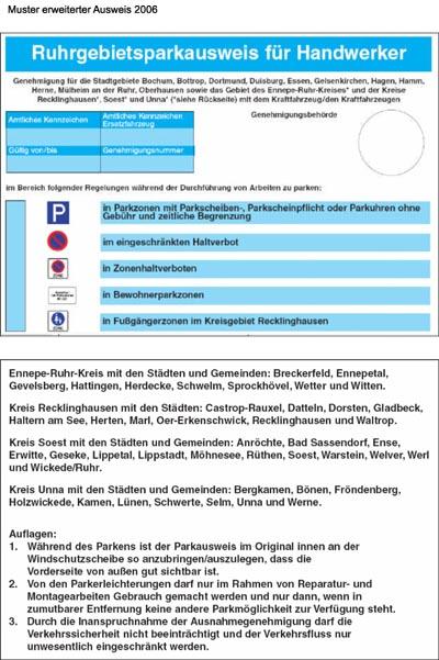 Bild zum Artikel: Ruhrgebietsparkausweis für Handwerker