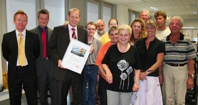 Bild zum Artikel: Auszeichnung für städtische Poststelle