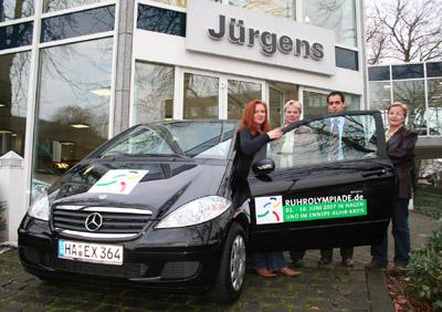 Bild zum Artikel: Sportjugend dankt Autohaus Jürgens mobil