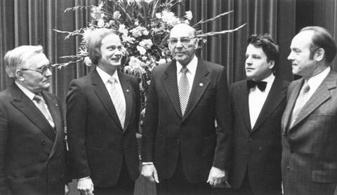 Rudi Loskand (rechts) und Karl Gies (2.v.r.)