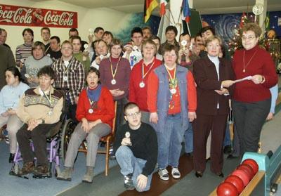 Bild zum Artikel: Weihnachtskegeln für Behinderte
