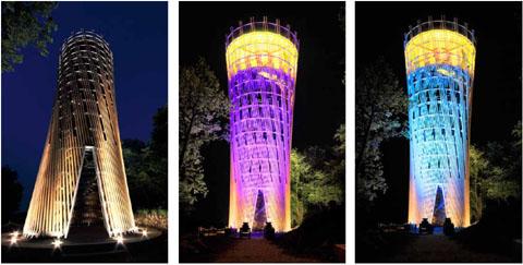 Fotobuch der Landesgartenschau 2010: der Jübergturm beim Lichtgarten