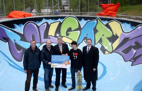 Bild zum Artikel: Skateanlage der LGS Hemer durch Sportminister Dr. Ingo Wolf eingeweiht